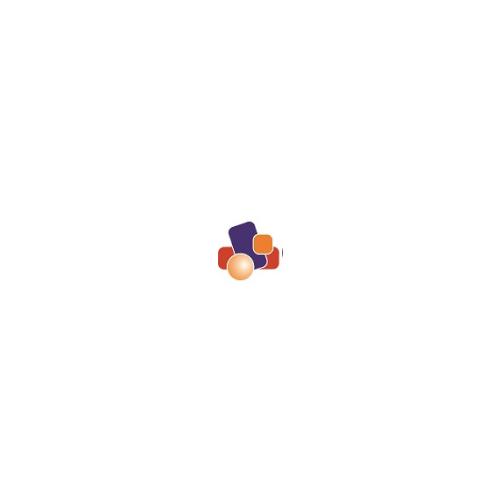 Mueble casillero perchero Tagar 6 huecos con 6 perchas azules 12x29x22cm