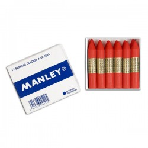 Caja 12 barritas ceras Manley verde ceniza
