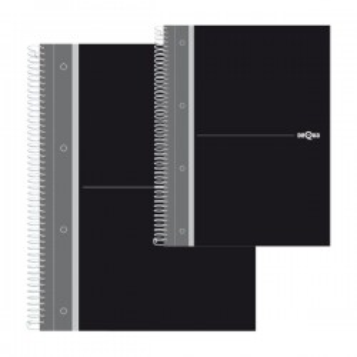 Cuaderno Dequa cubierta forrada. Microperforado 160h. 70g. Cuadrícula 5x5 A5. Negro Grafito