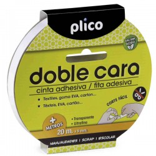 Cinta adhesiva doble cara Plico 15mmx20m