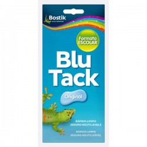Blutack original azul Plico formato escolar 90g