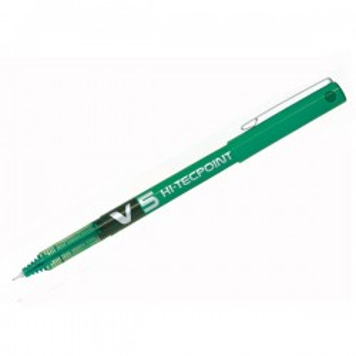 Roller de tinta líquida y punta de aguja Pilot V5 Verde