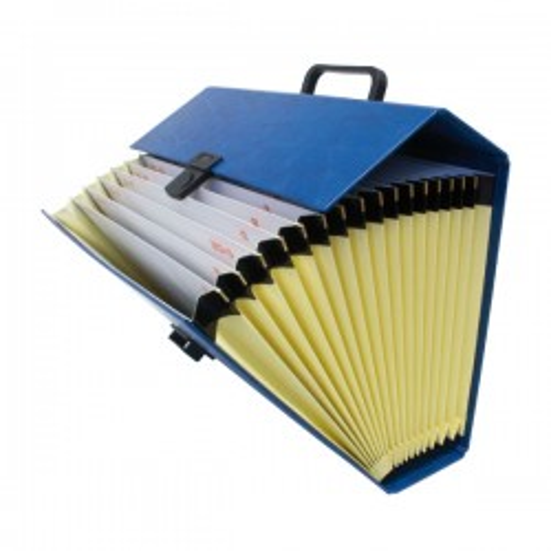 Maletín acordeón Project Alfanumérico Folio Azul