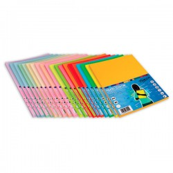 Paquete 100h. papel color Paperline 75g A4 Verde Fluorescente