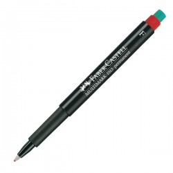 Marcador CD Faber-Castell Punta F. Trazo 0,6mm.  Negro