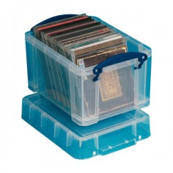 Caja multiusos Archivo 2000 para CD's  DVD's 245x180x160mm. 3l. Transparente